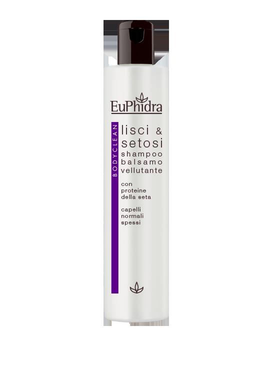 Shampoo/balsamo vellutante lisci e setosi
